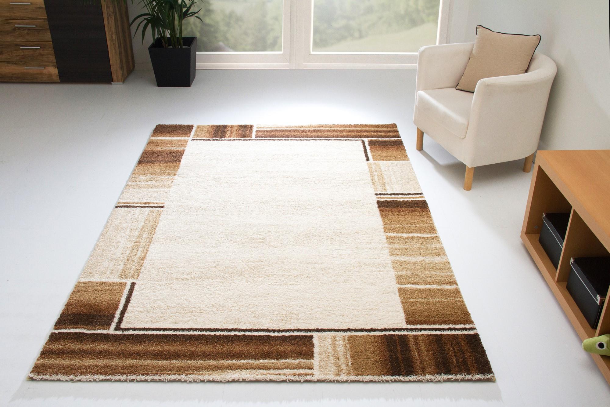 designer teppich modern dijon kuschelflor creme rot grau beige braun orange ebay. Black Bedroom Furniture Sets. Home Design Ideas