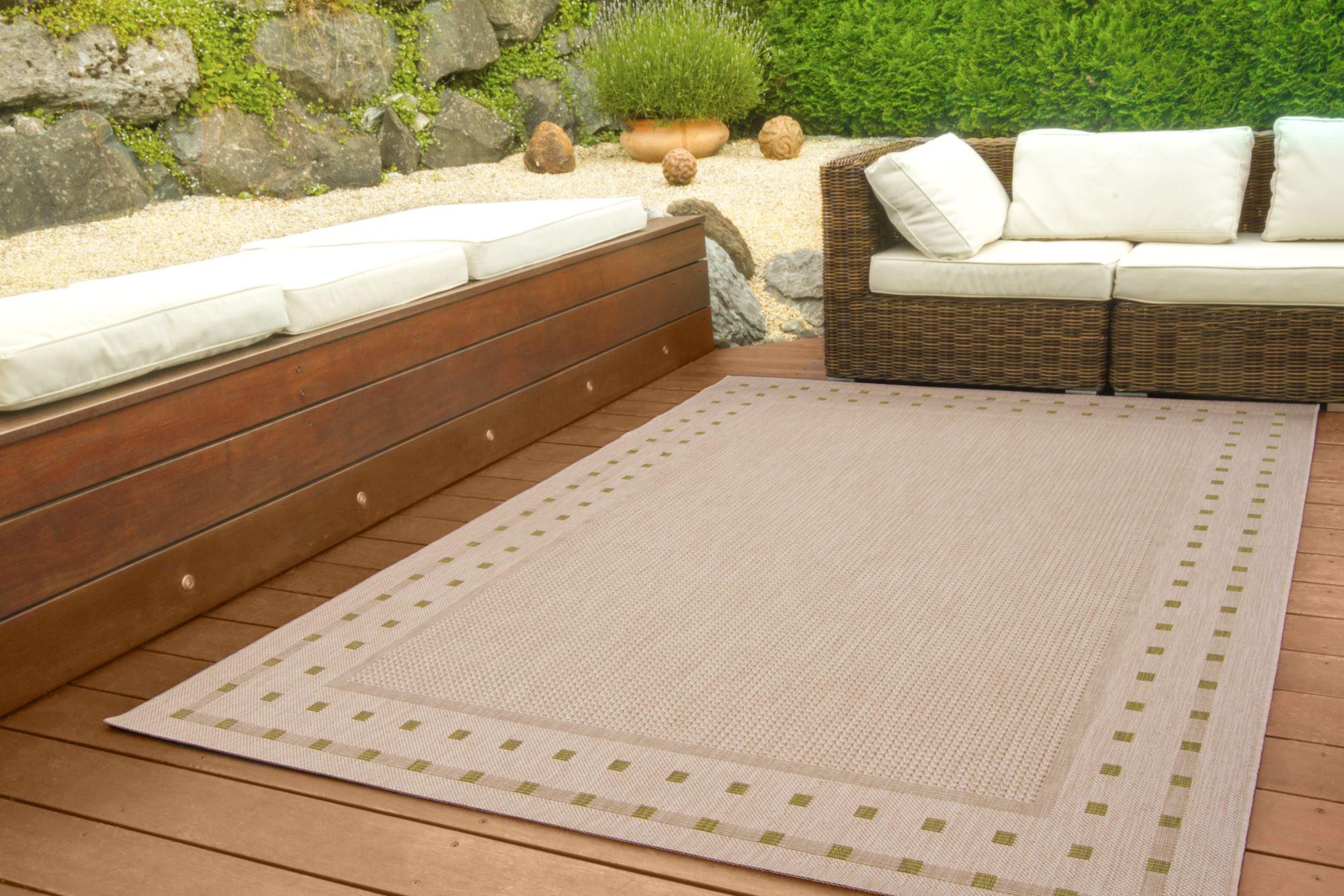 in und outdoor teppich halland design sisal optik bord re ebay. Black Bedroom Furniture Sets. Home Design Ideas