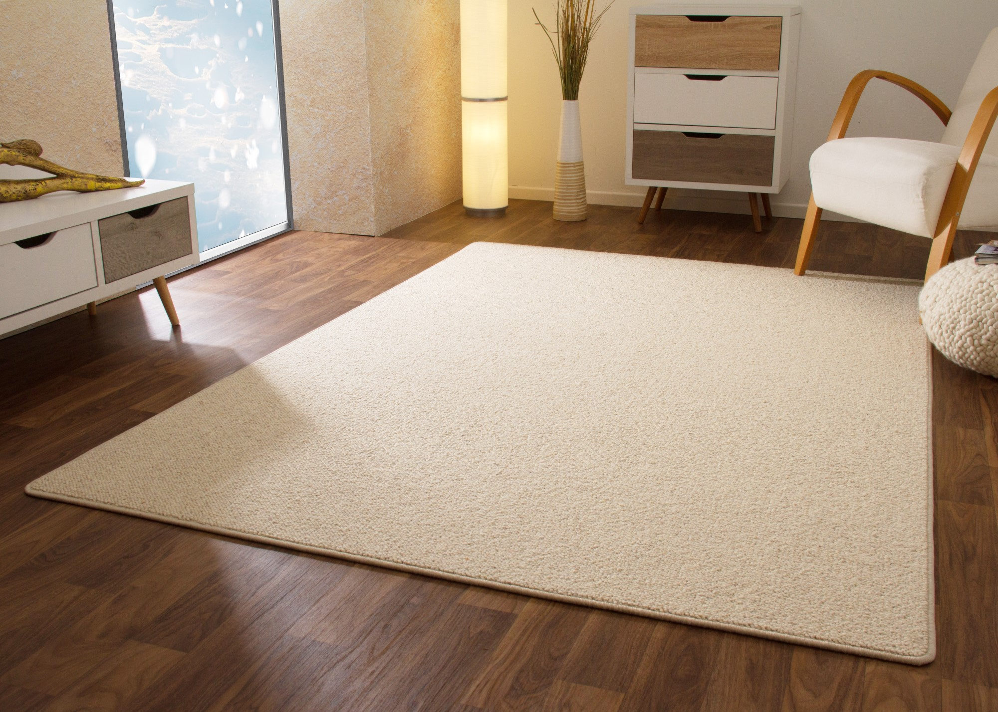 Designer Teppich Modern Berber Sydney Grau Creme Weiß 100% Wolle   eBay