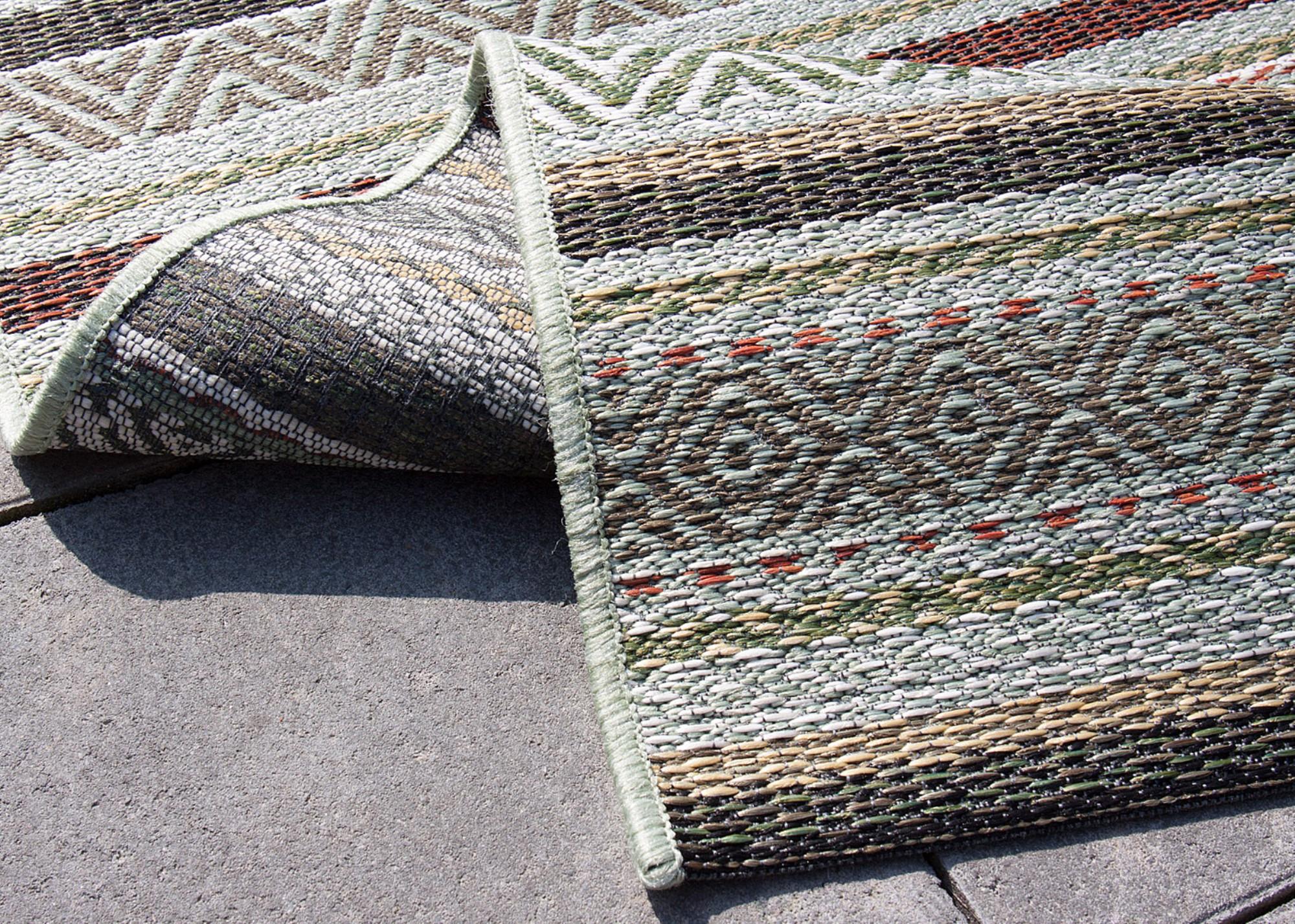 in outdoor teppich varberg beige blau grau gr n t rkis. Black Bedroom Furniture Sets. Home Design Ideas