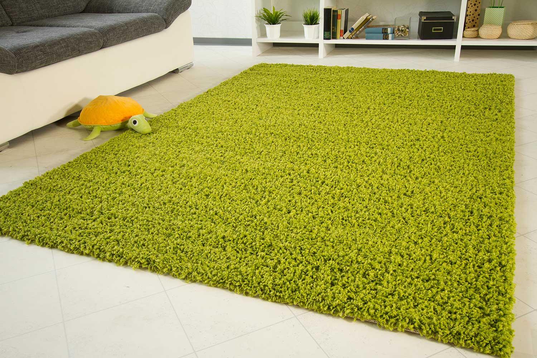 Shaggy langflor hochflor teppich funny grün neu ebay