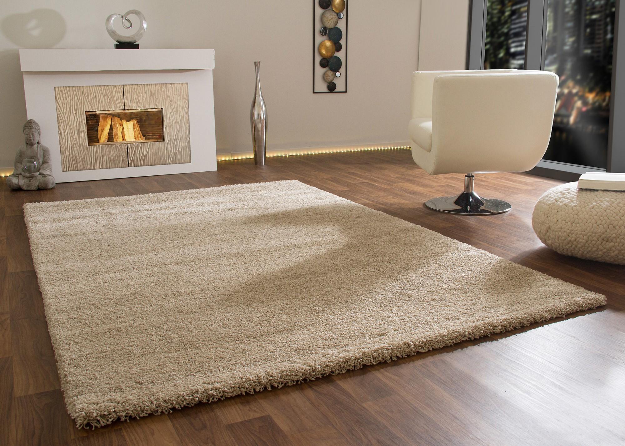 langflor hochflor teppich chamonix shaggy creme beige grau. Black Bedroom Furniture Sets. Home Design Ideas