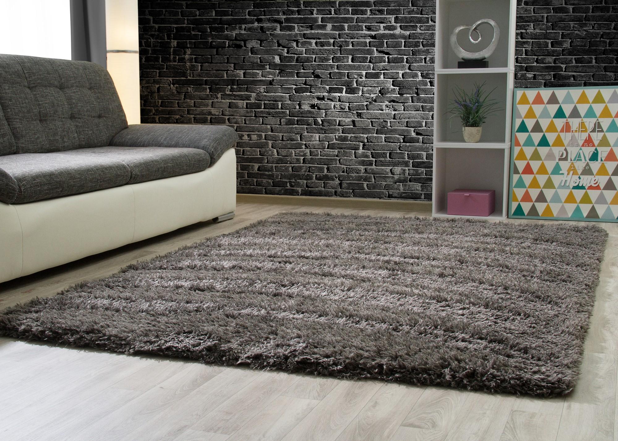 hochflor langflor teppich pindos weich flauschig wohnzimmer esszimmer ebay. Black Bedroom Furniture Sets. Home Design Ideas
