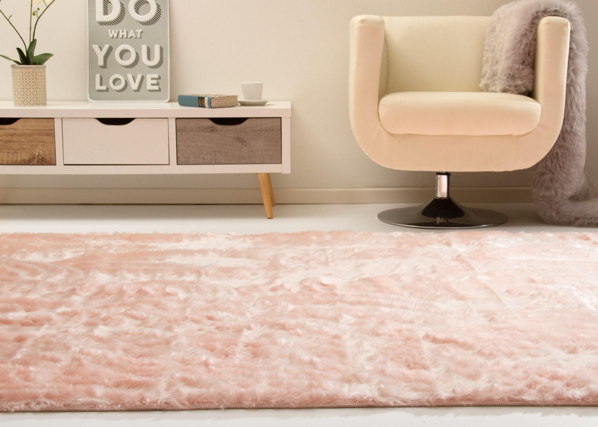 Tappeto Da Salotto Rosa : Tappeto pelo senja luminous in e rosa e in antracite per il