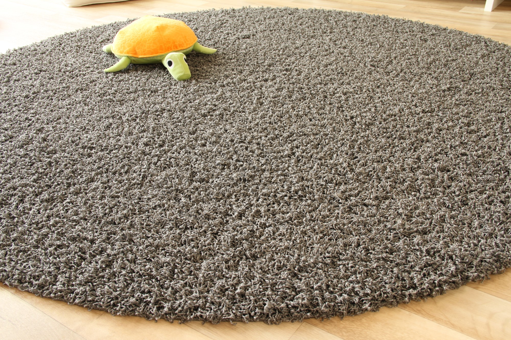shaggy langflor hochflor teppich funny silber grau neu ebay