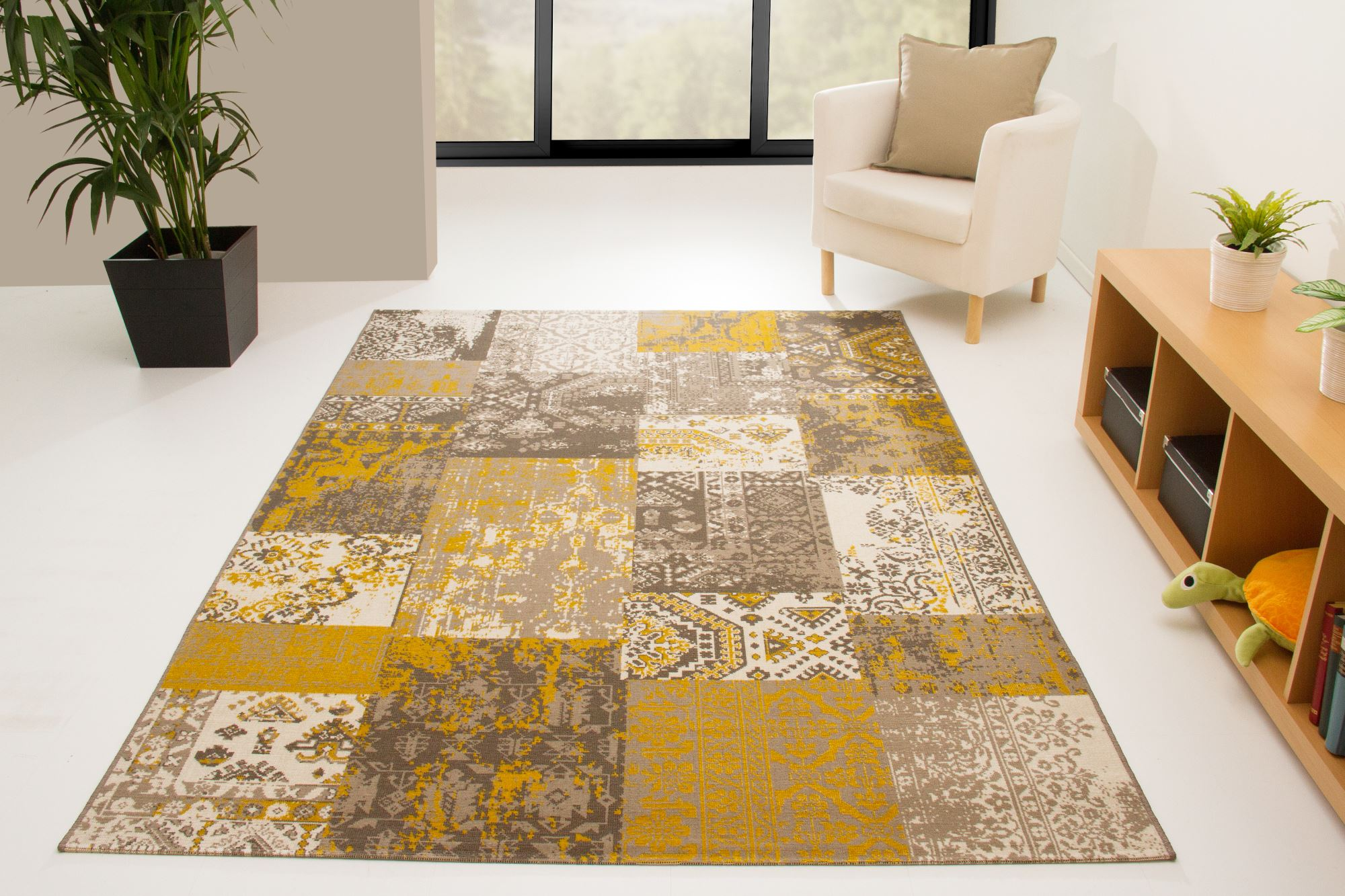 new modern rug karthago fields design colourful ebay. Black Bedroom Furniture Sets. Home Design Ideas