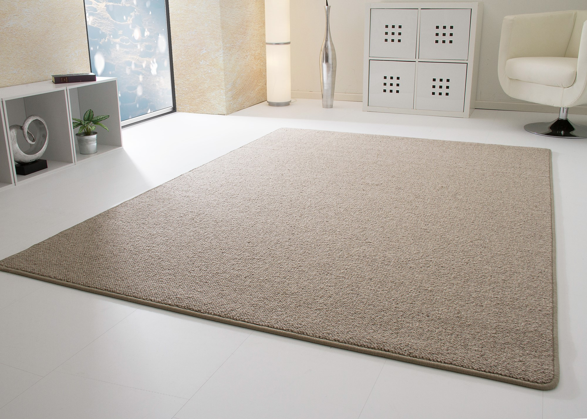 New Modern Rug Berber Style Sydney 100 Wool Mats Small