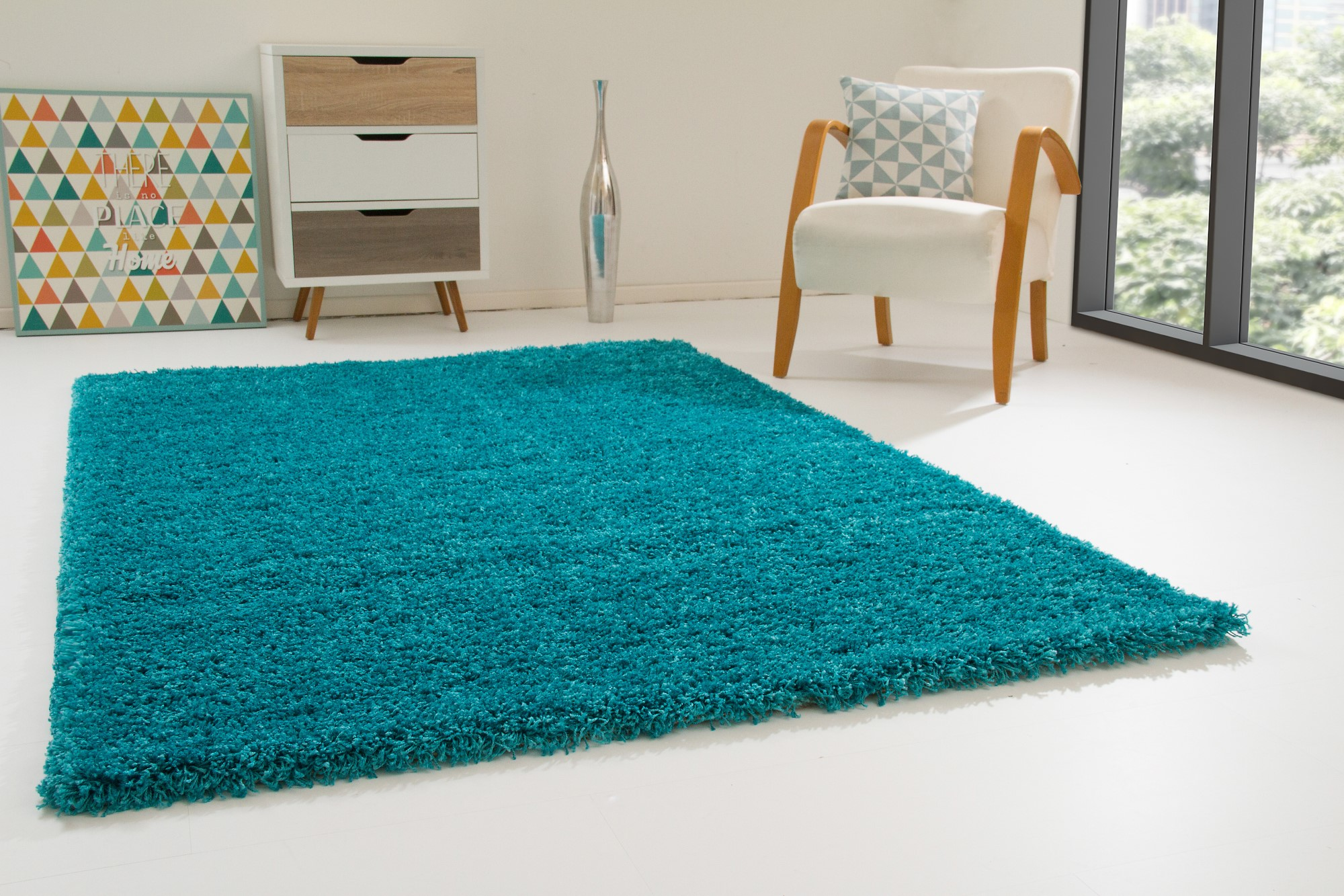shaggy rug happy xl thick soft pile small extra large new non shedding carpets ebay. Black Bedroom Furniture Sets. Home Design Ideas