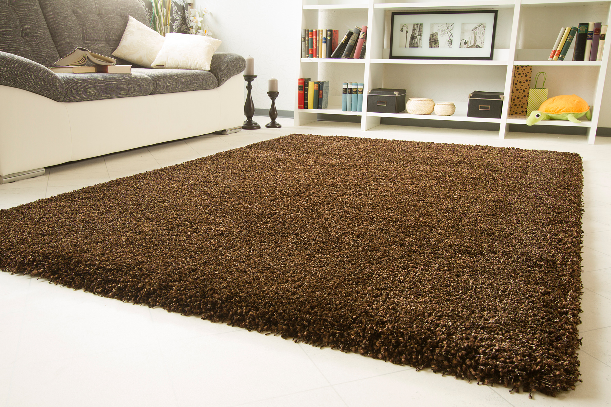very thick plain soft shaggy rug funny luxus non shedding small x large medium ebay. Black Bedroom Furniture Sets. Home Design Ideas