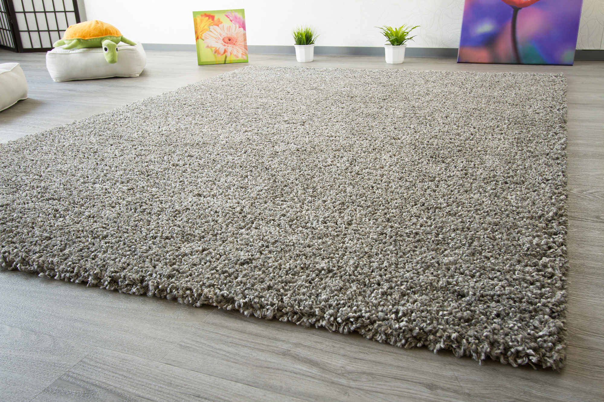 Thick Plain Shaggy Rug Funny Soft Touch Non Shedding 3cm