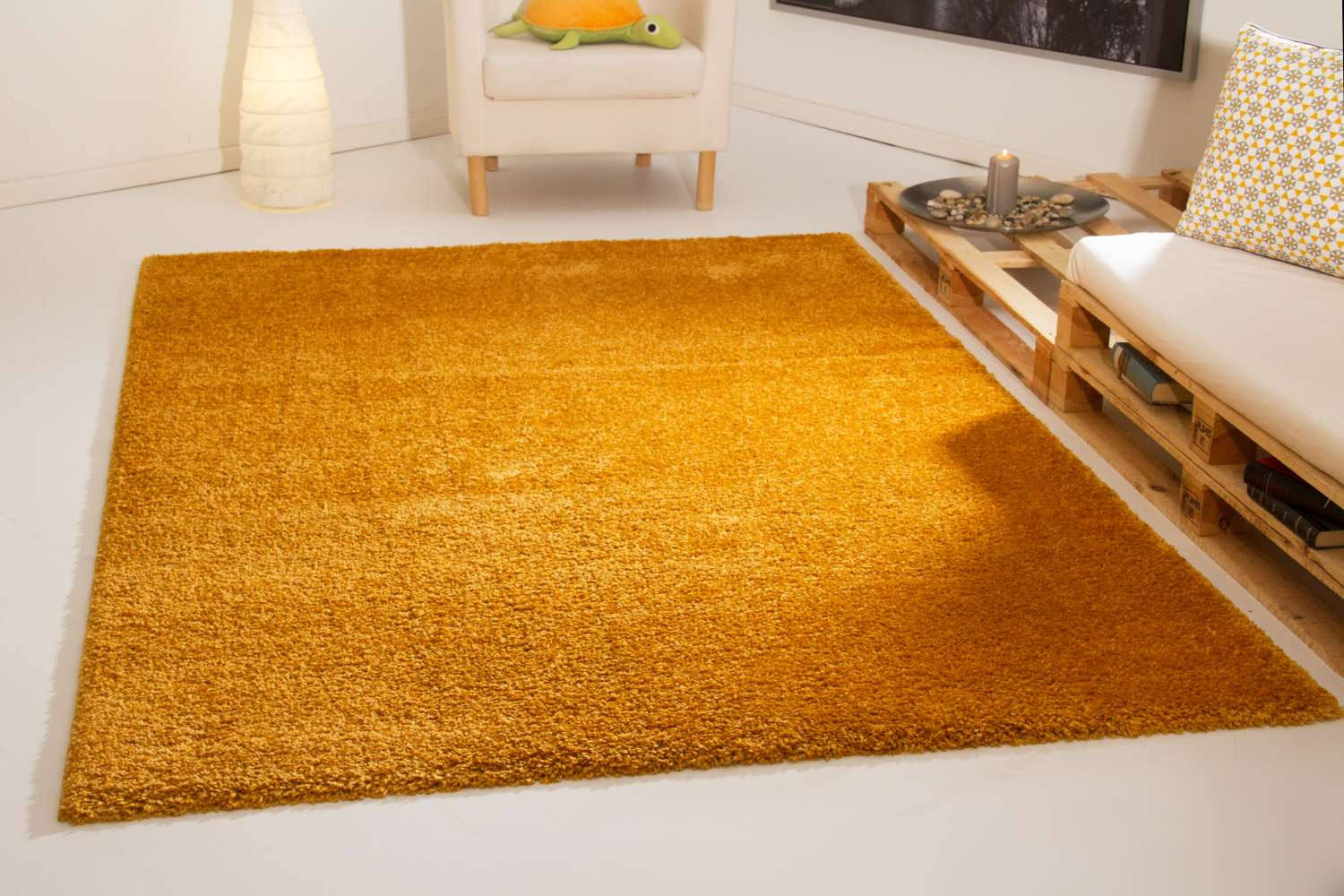 Kinderteppich grün gelb  Hochflor Teppich Tom Tailor - Soft | global-carpet