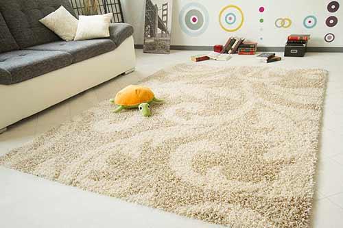 Hochflor Teppich Funny Design - Ranke
