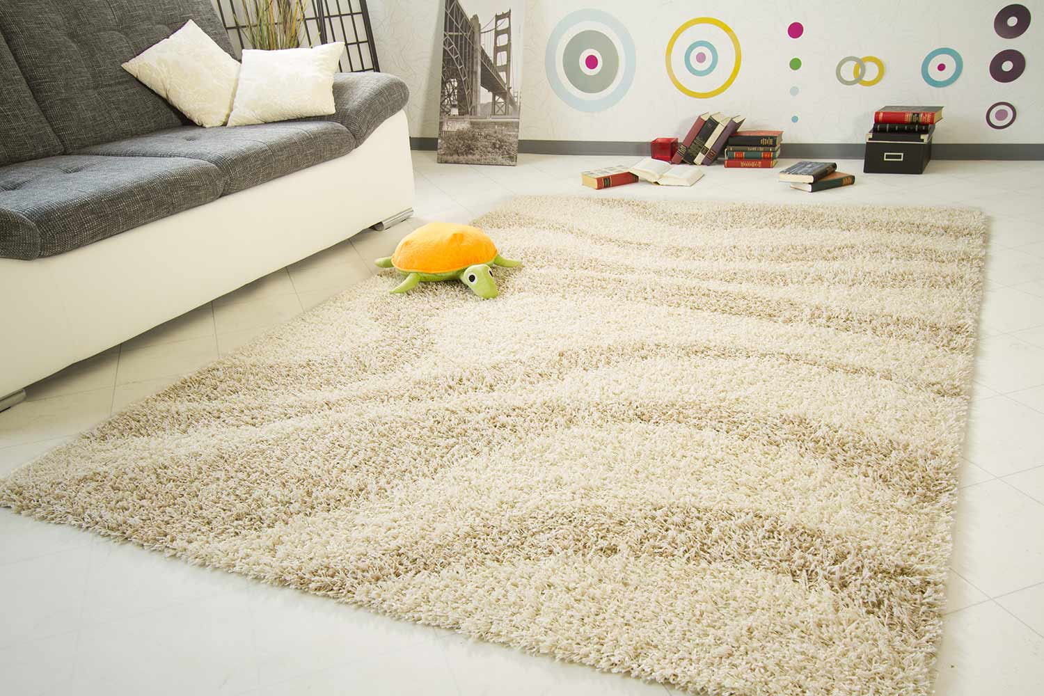 Hochflor Teppich Funny Design - Welle