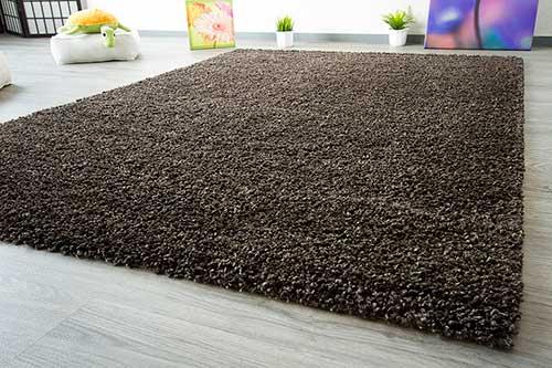 Teppich Gelb Braun : Hochflor teppich shaggy langflor