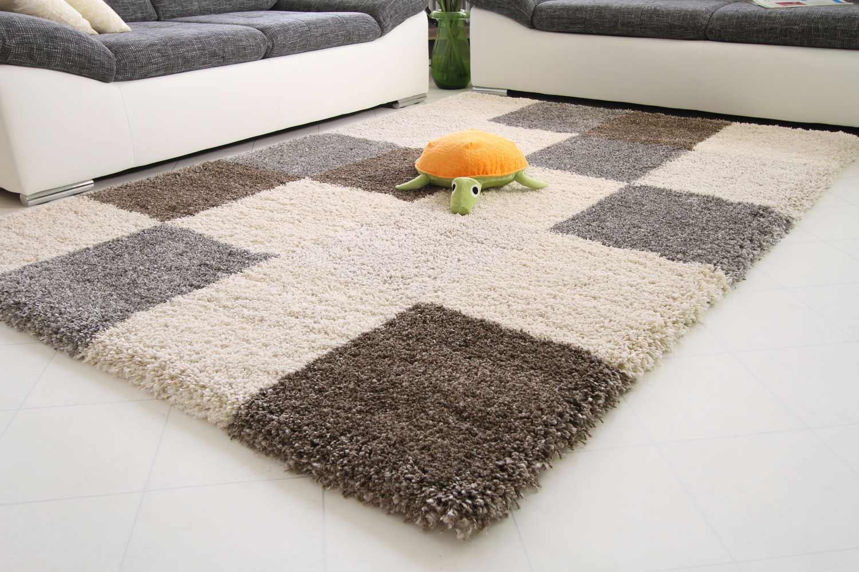 hochflor teppich funny xxl karo global carpet. Black Bedroom Furniture Sets. Home Design Ideas