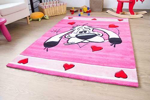 Kinderteppich Asterix - Verliebter Idefix
