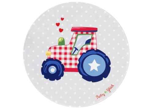 Kinderteppich Baby Glück - Traktor
