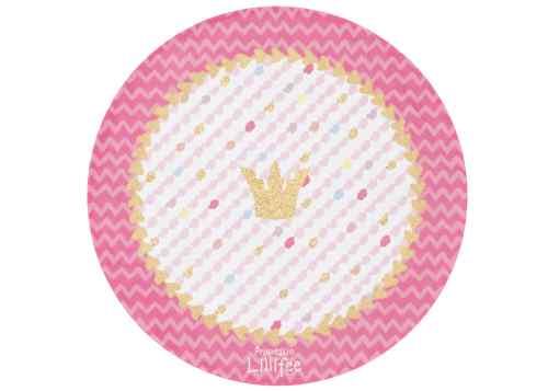 Kinderteppich Prinzessin Lillifee - Glitzerkrone rund