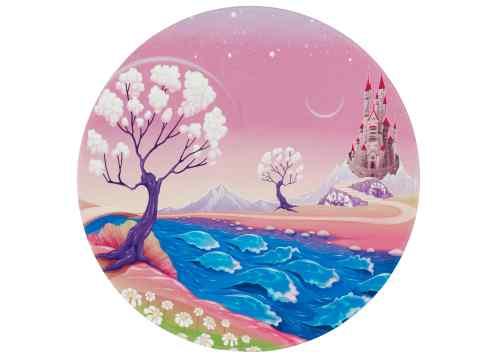 Kinderteppich Lovely Kids - Märchenschloss rund