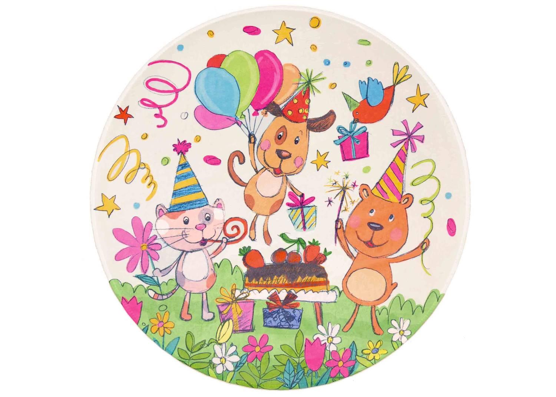 Kinderteppich Lovely Kids - Geburtstag rund