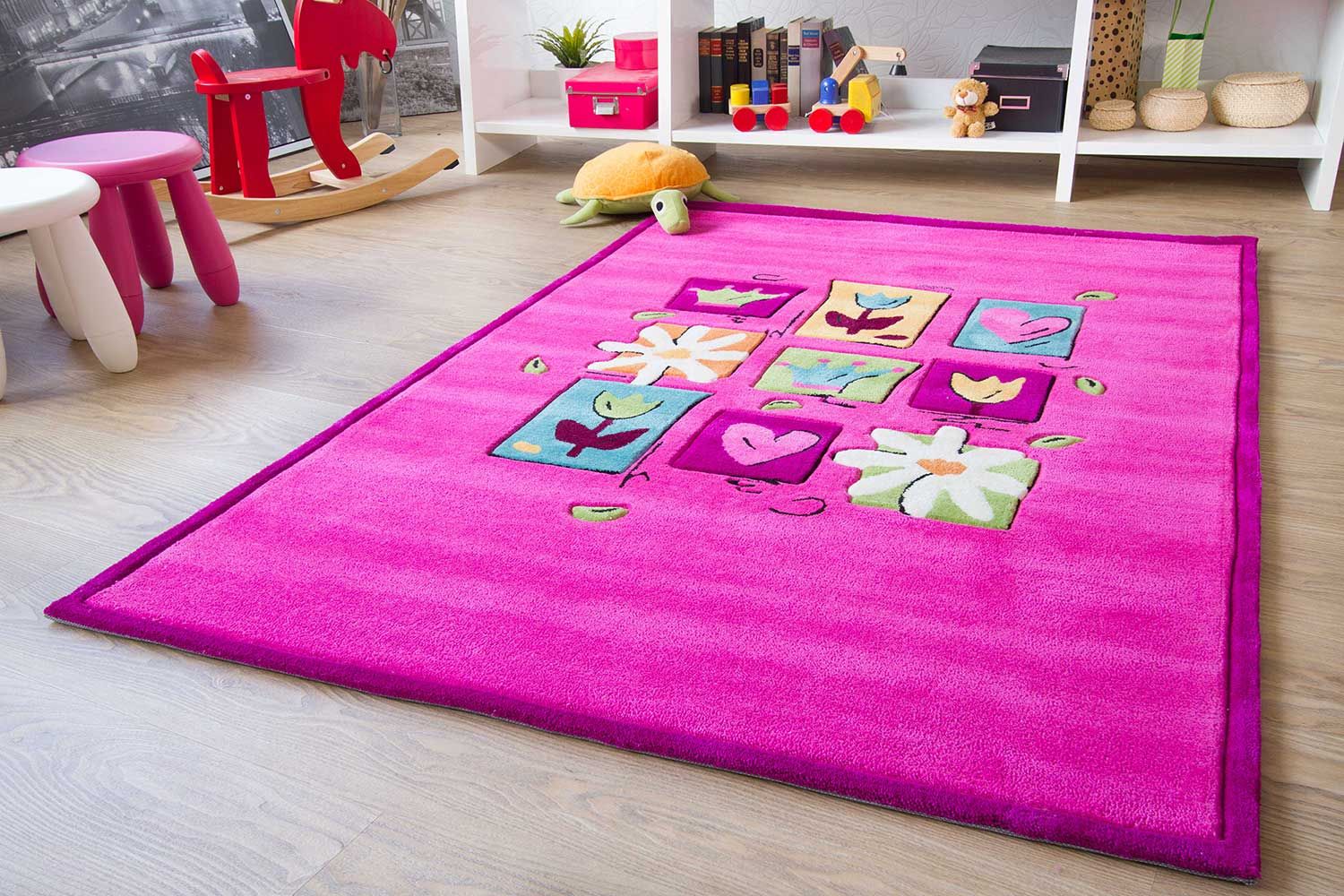 Kinderteppich Maui - Blumenwiese | global-carpet
