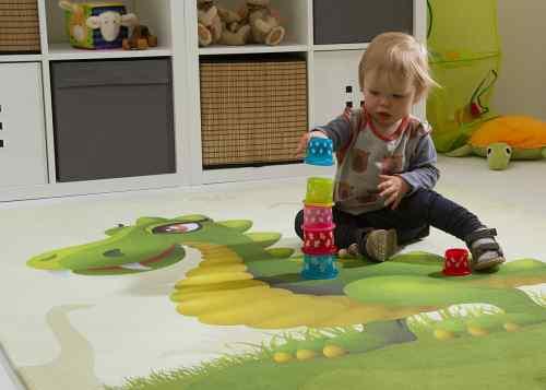 Kinderteppich Jurassic Family - Rexi