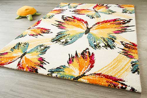 Kinderteppich Little Carpet - Papillon