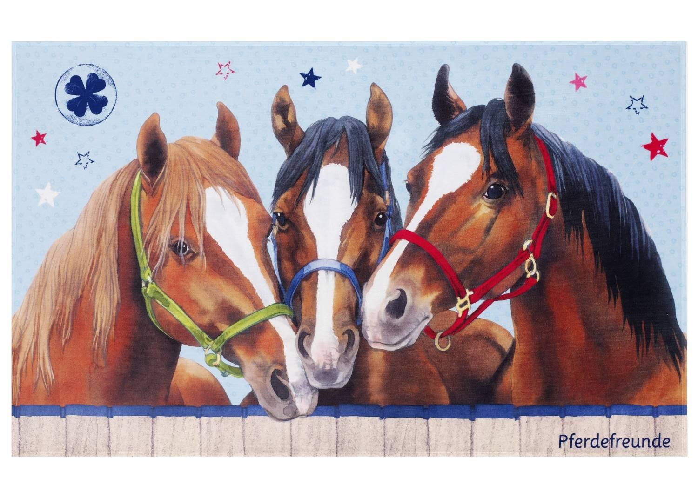 Kinderteppich Pferdefreunde - Pferdetrio