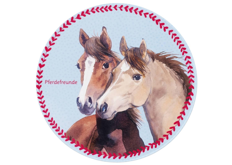 Kinderteppich Pferdefreunde - rund