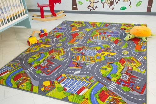 Kinderteppich City - Straßen- und Spielteppich