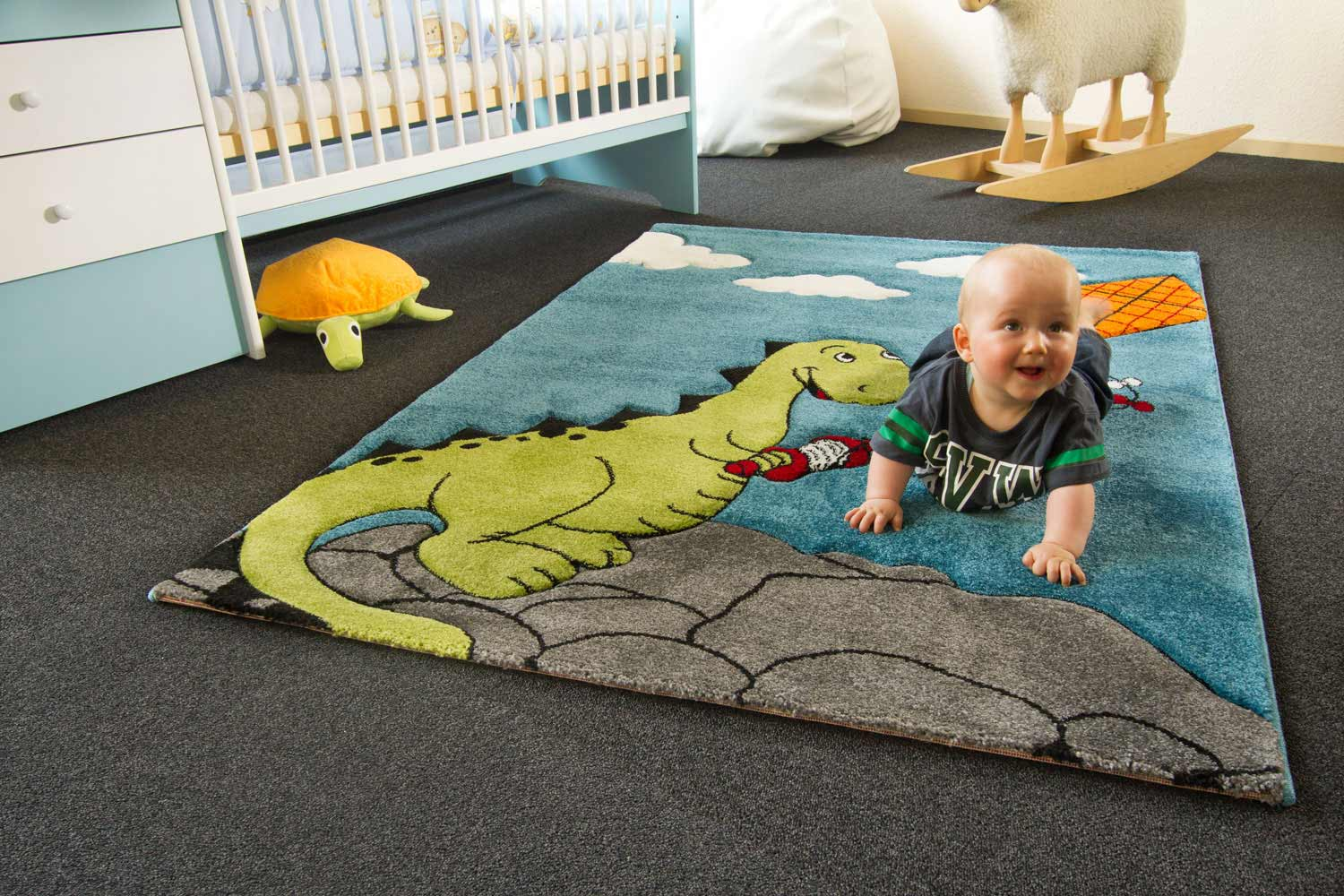 Kinderteppich Little Carpet - Drache Henri