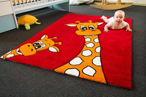 Kinderteppich Little Carpet - Giraffe Lia