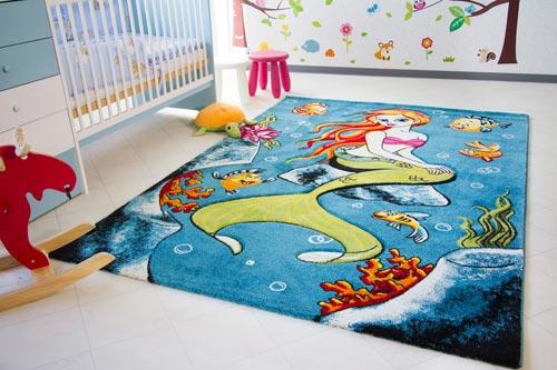 Kinderteppich Little Carpet - Meerjungfrau Bibi
