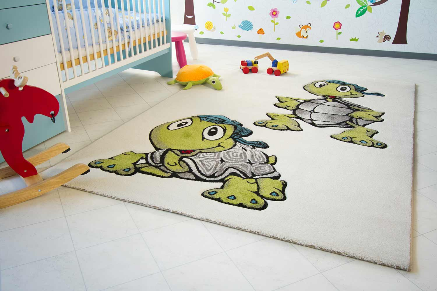 Kinderteppich Little Carpet - Schildkröte Heinrich