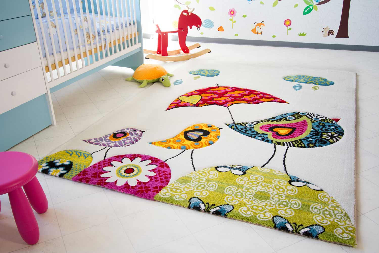 Kinderteppich vögel  Kinderteppich Little Carpet - Vogel Theo | global-carpet