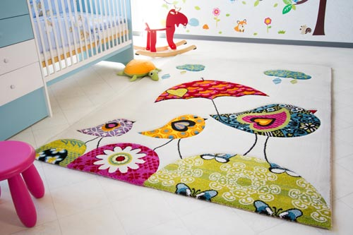Kinderteppich Little Carpet - Vogel Theo