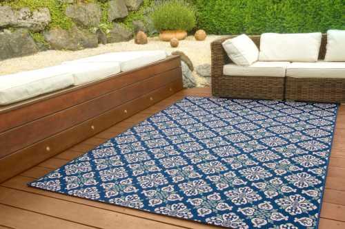 In- und Outdoor Teppich Dalarna Design - Floral