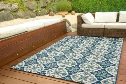 In- und Outdoor Teppich Dalarna Design - Lilie