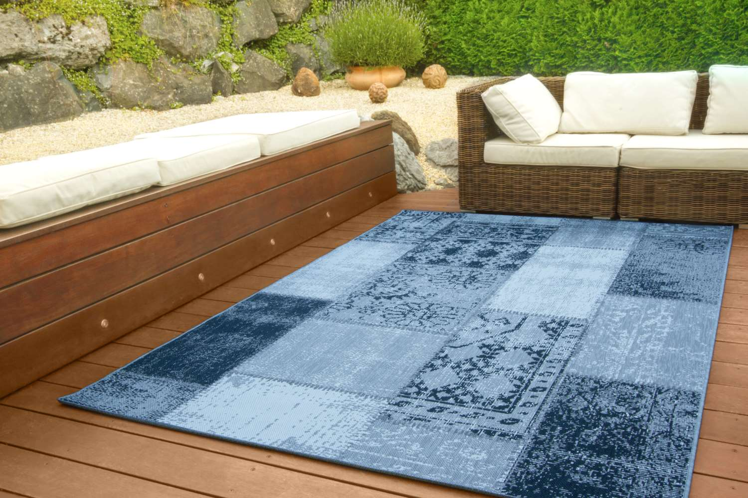 in und outdoor teppich dalarna design vintage global carpet. Black Bedroom Furniture Sets. Home Design Ideas