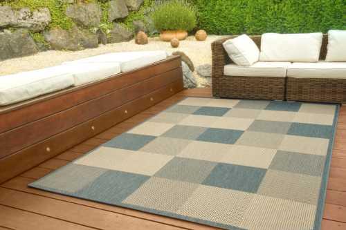 In- und Outdoor Teppich Halland Design - Karo