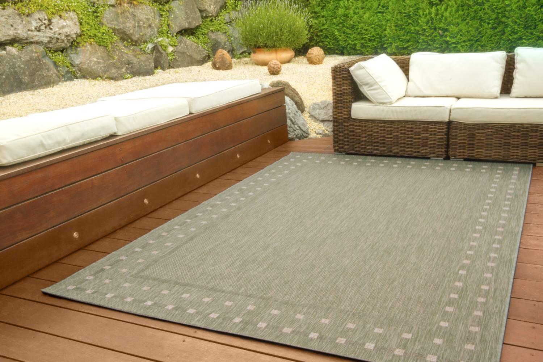 In- und Outdoor Teppich Gotland Design - Bordüre Kästchen