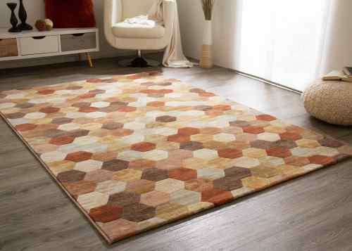 Designerteppich Harmonious Colours - Hexagon