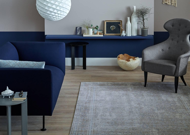 Schöner Wohnen Teppich Shining - Blue Vintage Love