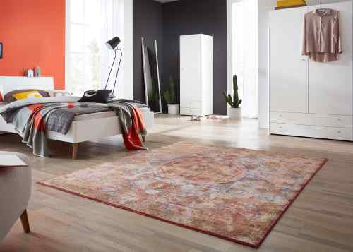 Schöner Wohnen Teppich Shining - Orange Ornament