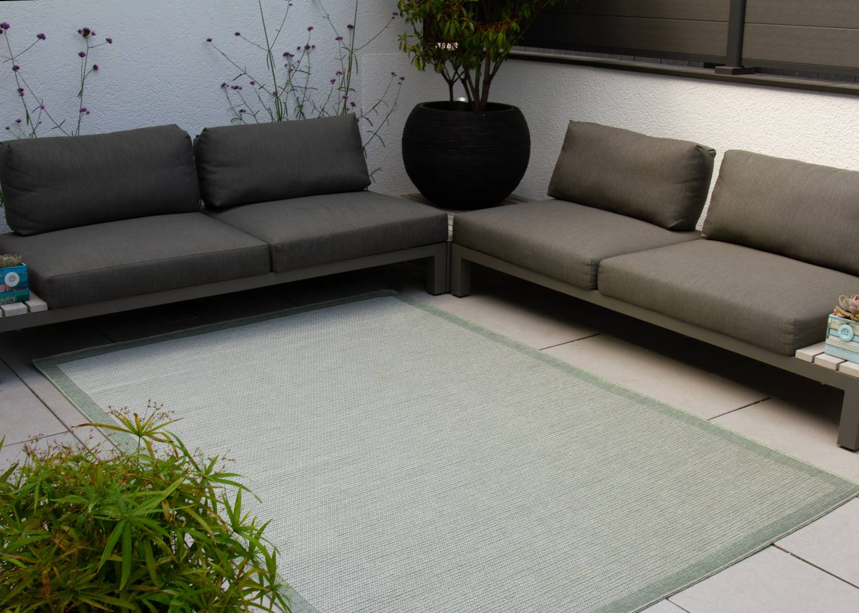 In- und Outdoor Teppich Visby - Bordüre - außen
