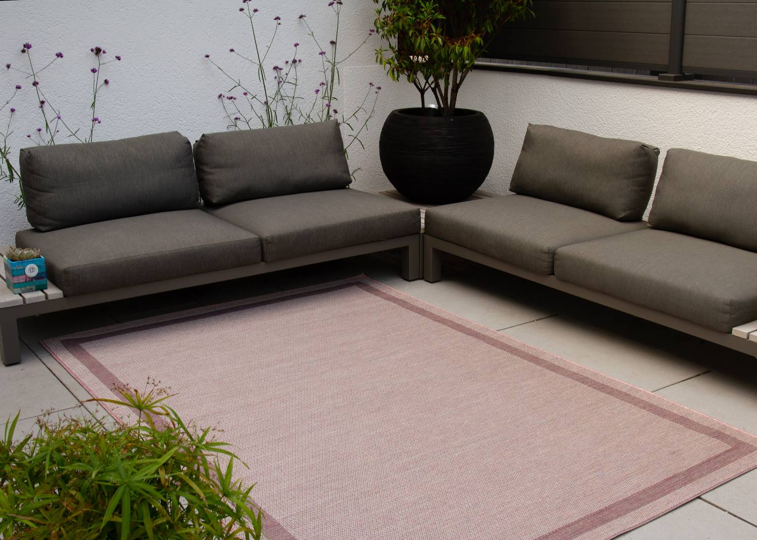 in und outdoor teppich visby bord re innen global carpet. Black Bedroom Furniture Sets. Home Design Ideas