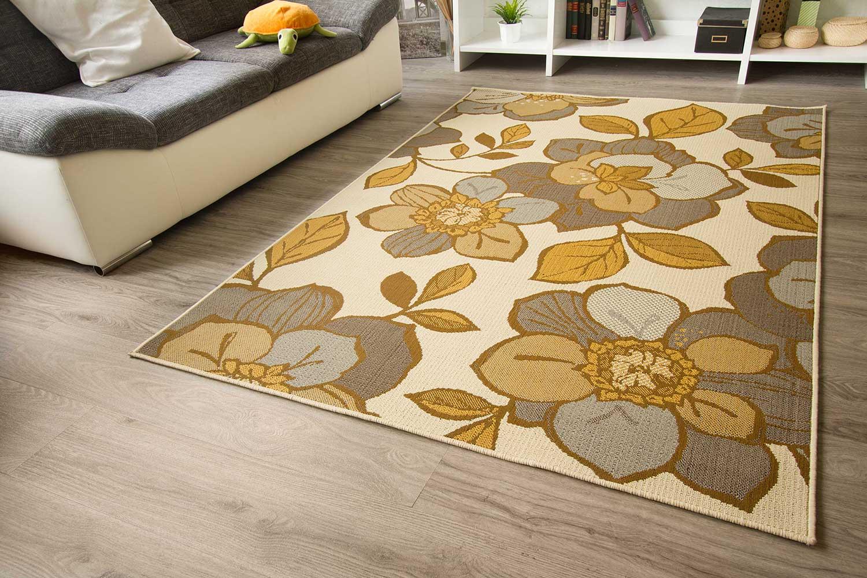 In und Outdoor Teppich Gotland Design  Bordüre Linien