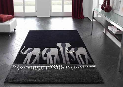 Designerteppich Kalahari - Elefanten