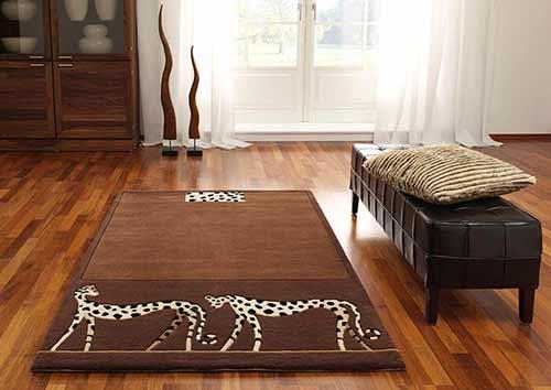 Designerteppich Kalahari - Leoparden