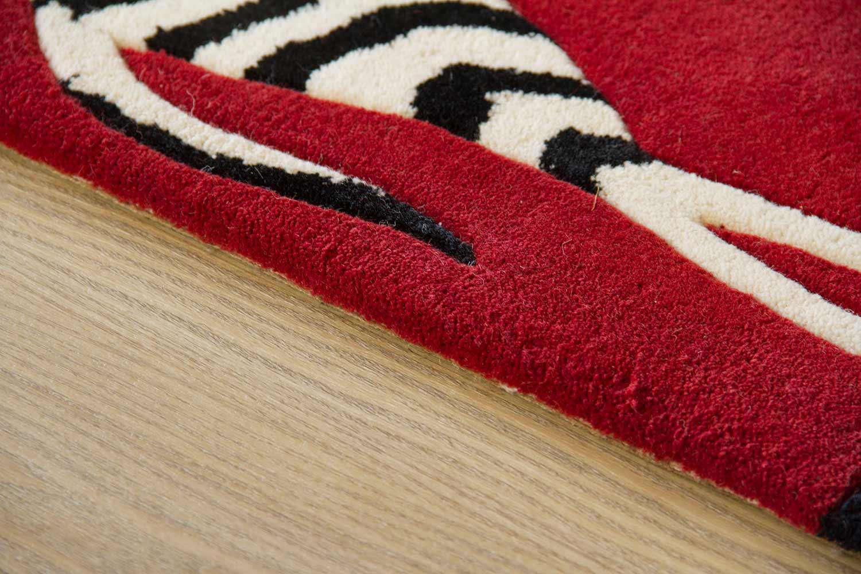Moderner Designer Teppich Kalahari - Zebras Streif